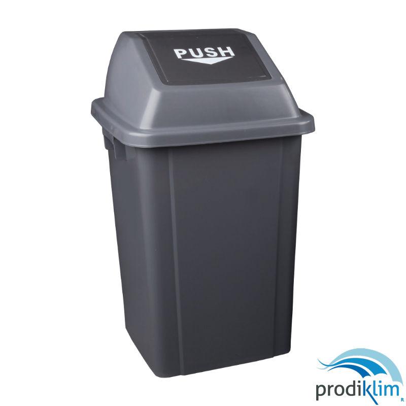 0672110-papelera-pvc-gris-tapa-basculante-40l-prodiklim