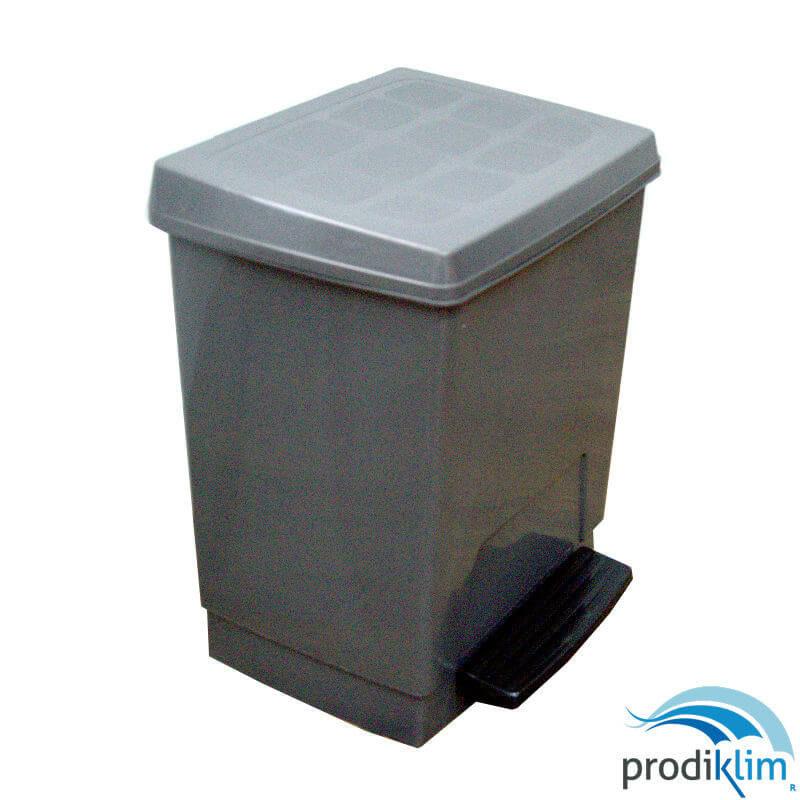 0932133-papelera-pedal-abs-grismetalico-23l-prodiklim